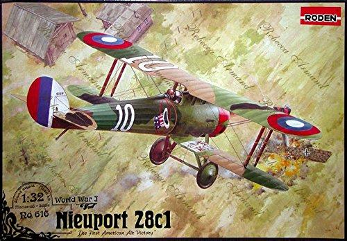Amazon.com: Nieuport 28 C1 Francés Avión WWI 1/32 Roden 616 ...