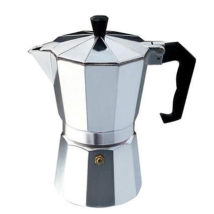 Lee&Jim Cafetera Italiana de Aluminio, Máquina de café Espresso Stove Top Espresso Maker Moka Pot
