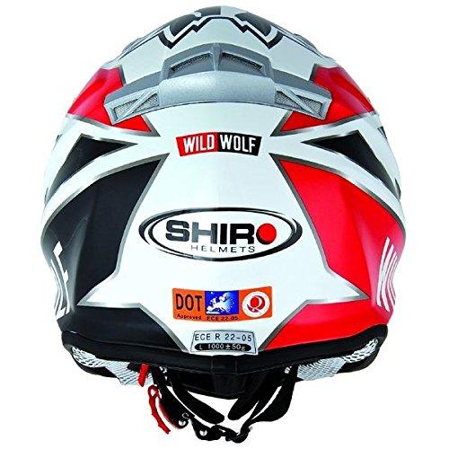 Casco moto cross SHIRO MX-912 WILD WOLF-Carcasa de fibra de carbono, color blanco y negro: Amazon.es: Electrónica