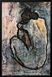 Blue Nude, c.1902 by Pablo Picasso is a lamina framed poster with a 1 inch black wood frame. It is expertly handcrafted with care in the USA. Hanging hardware is included.Poster is made of 50% recycled fiber.