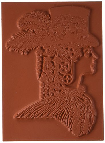 Deep Red Cling Stamp-Steampunk Lady by Deep Red Stamps