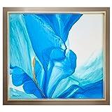 Rivet Modern Abstract Flower Print, Grey Frame, 42'' x 46''