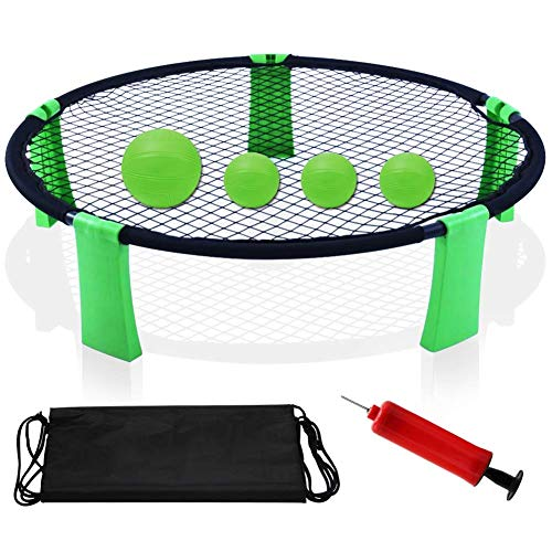 YourPartner Volleyball Spike Outdoor Game for Beach, Lawn, Green -