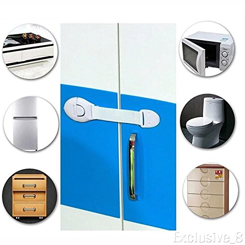 NPLE--10pc Child kids Toddler Safety Locks Children Baby Kids Drawer Door Cabinet HOT by NPLE