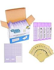 Läppbalsam behållare rör – FDA-godkända – BPA-fria – 50-pack – lila – 3/16 oz (5,5 ml) – inklusive 50 skrivbara (lila) och 50 tryckta läppbalsam-klistermärken