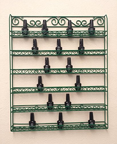 pana-brand-professional-wall-mounted-green-metal-frame-nail-polish-display-rack-organizer-holds-up-t