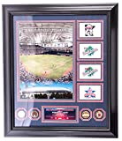 AUTHENTIC APPAREL MLB Framed Minnesota Twins Collectible Hubert H. Humphrey Metrodome with Authenticated Dirt and Gold Overlay medalions