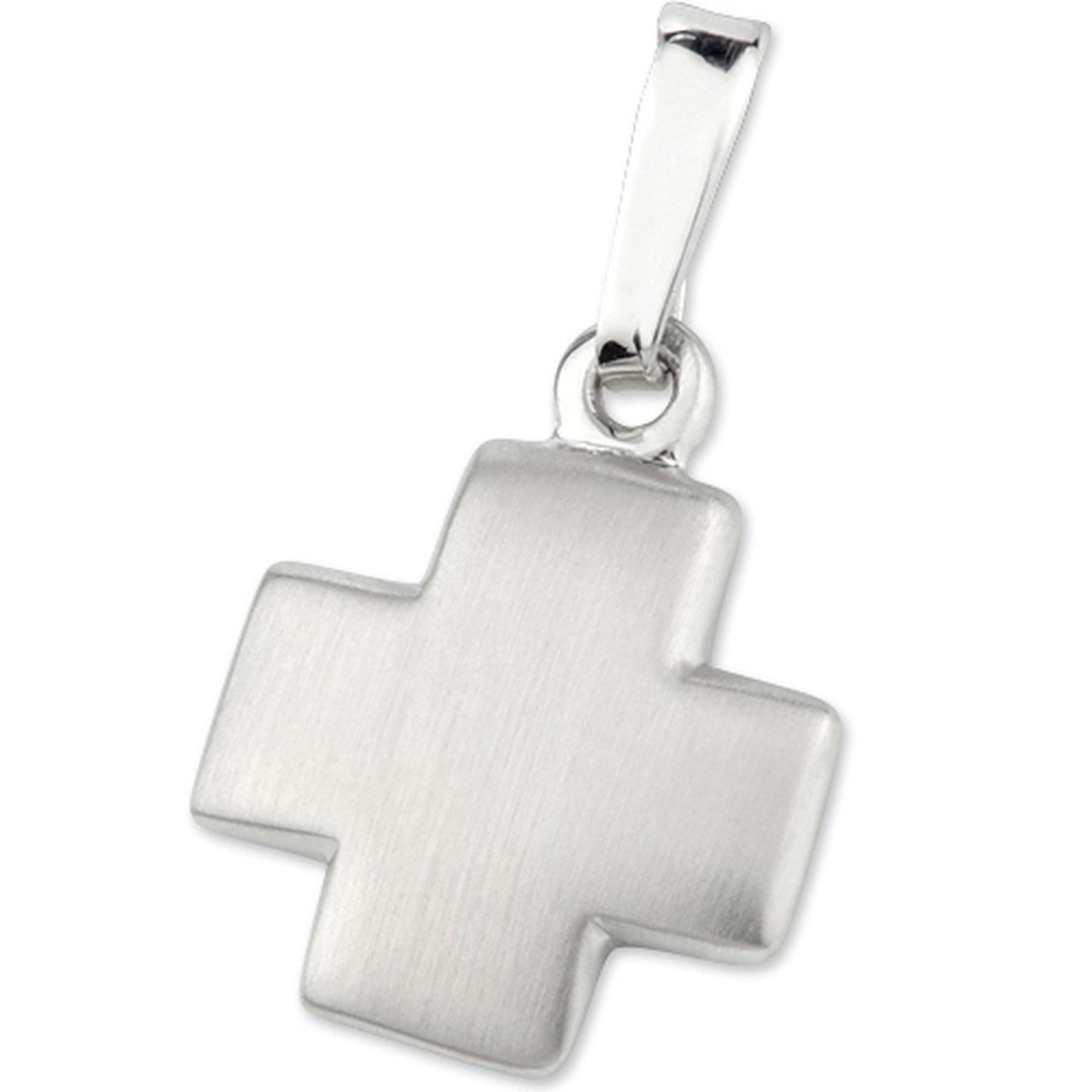 925/- Sterling-Silber Anhänger Kreuz mattiert 1, 10 cm Cadenis 117-6133