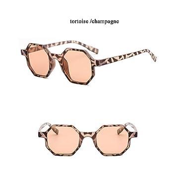 SKCLBOOS Gafas de Sol Gafas de Sol octagonales Moda Mujer ...
