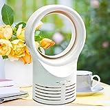 Vovomay Desktop Bladeless Portable Fan Air Flow Cooling Cool Fan Low Low Noise (White)