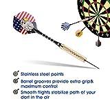 UZOPI 15 Packs Steel Tip Darts 18 Grams with Dart
