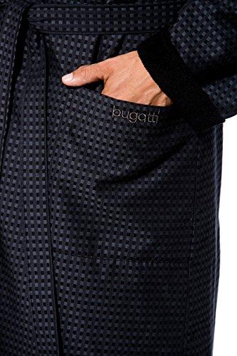 1da85cc9caa6a0 Bugatti, Herren Bademantel lang mit Schalkragen, Größe L, Farbe  grau/schwarz kariert, Hausmantel, Morgenrock, Morgenmantel: Amazon.de:  Bekleidung
