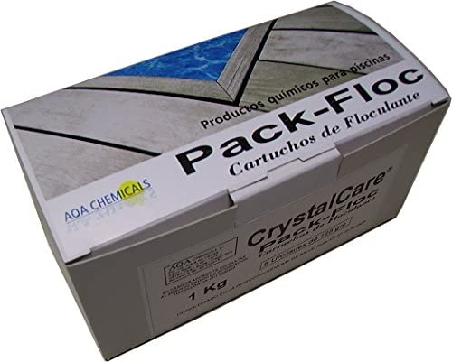 CrystalCare Pack Floc Eco: Cartuchos floculante para Mejorar Transparencia del Agua. Caja 5 uds