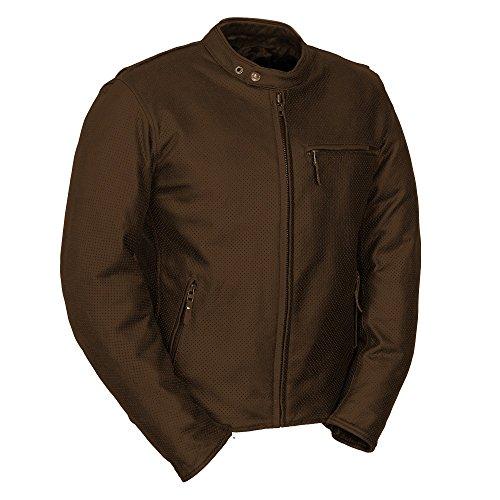 Fieldsheer Unisex-Adult Deuce Perf Leather Jacket Brown 48
