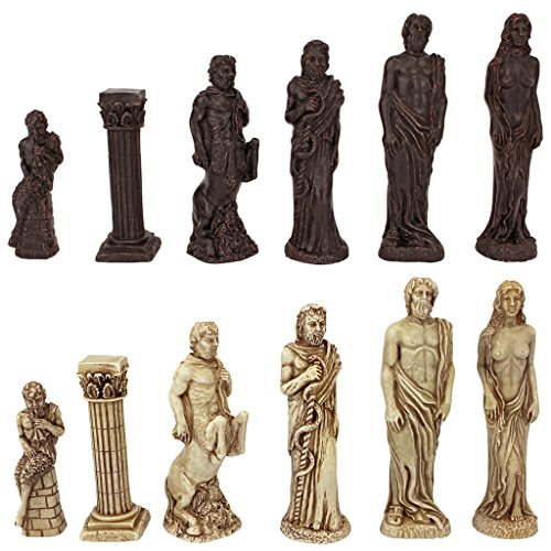 Make Greek God - Design Toscano Gods of Greek Mythology Chess Set: Pieces Only