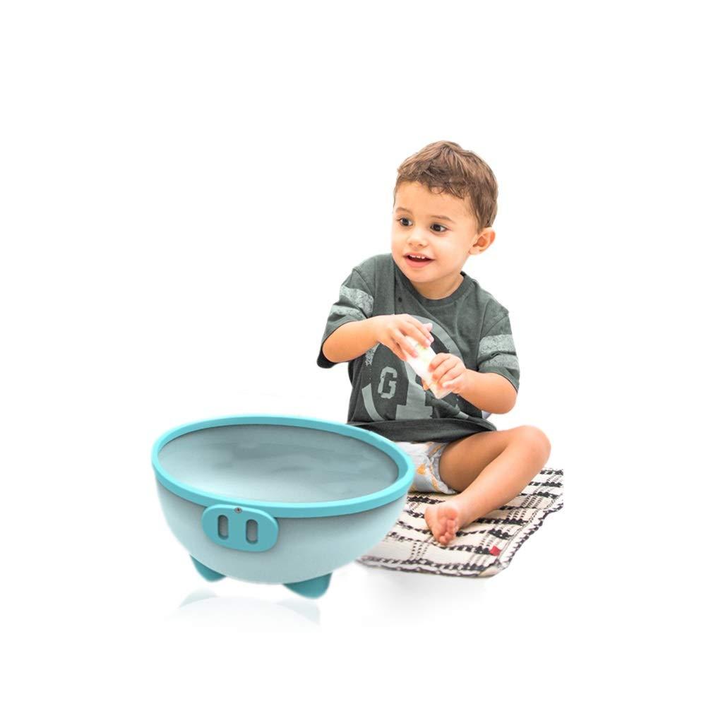 ZHAO ZHANQIANG Purpose Baby Plastic Wash Basin, Thickened Anti-Skid High Capacity Cartoon Baby Washing Basin, Lovely Piggy, Blue by ZHAO ZHANQIANG (Image #2)