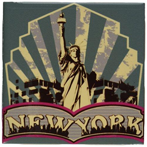 3dRose ct_16508_1 Vintage New York-Ceramic Tile, 4-Inch