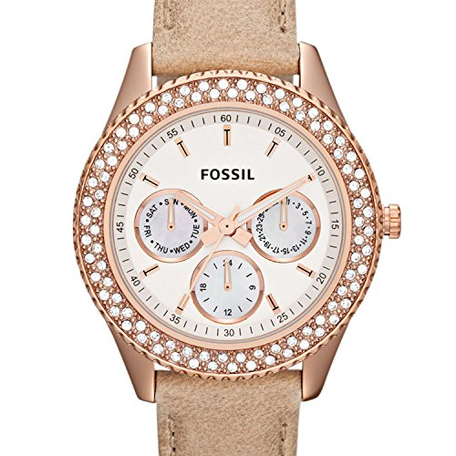 (Fossil Women's ES3104 Stainless Steel Analog White Dial Watch )