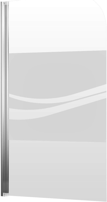 Schulte Mampara para bañera, abatible, mampara de bañera, plegable, 80 x 140 cm, pantalla de bañera, 1 parte giratoria, de vidrio, decoración de liana, perfil de aspecto cromado: Amazon.es: Bricolaje y herramientas