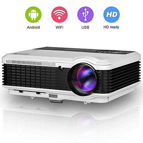 EUG 3600 Lumens WiFi Projector HDMI, Portable Digital Wux...