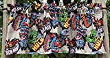 Spiderman Hulk Ironman Super Hero Handcrafted Curtain Valance Sewn From Marvel Comics Cotton Fabric