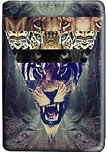 IPad Mini Cases, IPad Mini Case, Road of Triangle, Lion and Tiger Case for IPad Mini