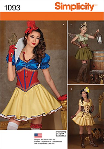 Simplicity 1093 Women's Steampunk Fairy Tale Cosplay and Halloween Costume Sewing Pattern, Sizes 6-14 -