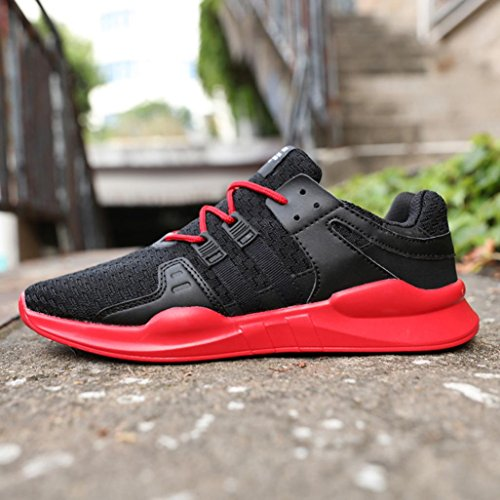 Tiean Mens Chaussures De Sport Respirant Chaussures De Sport Loisirs Lacets Chaussures De Sport Multicolor