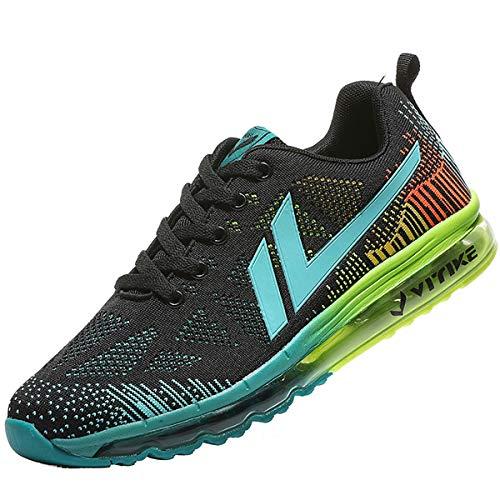 ASHION Scarpe da Ginnastica Uomo Corsa Sportive Fitness Running Sneakers Basse Interior Air Casual all'Aperto 3-blu