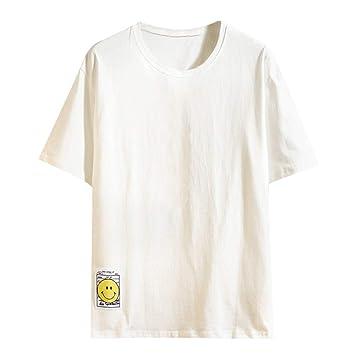 Wawer - Col Rond Homme Chemise 5XL. Camiseta de Manga Corta para ...