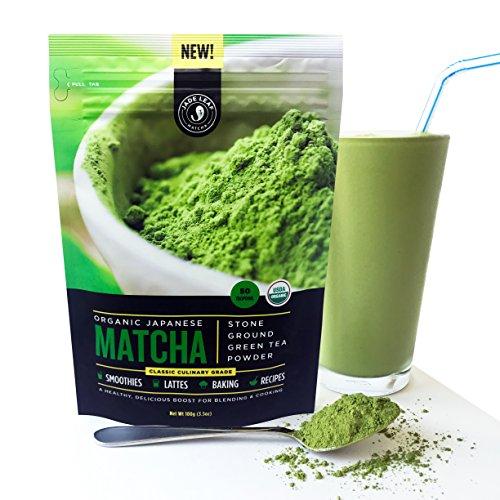 Jade Leaf - Organic Japanese Matcha Green Tea Powder - USDA Certified, Authentic Japanese Origin - Classic Culinary Grade (Smoothies, Lattes, Baking, Recipes) - Antioxidants, Energy [100g Value Size] by Jade Leaf Matcha (Image #3)