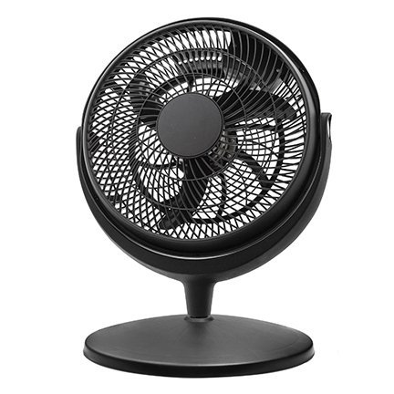 Energy efficient pedestal 12 inch quiet 3 speed floor fan for Air circulation fans home