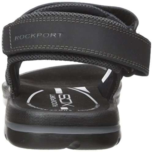 Rockport Sandal Your Grey Flat Black Quarter Get Strap Men's Kicks rWwnOrCTq