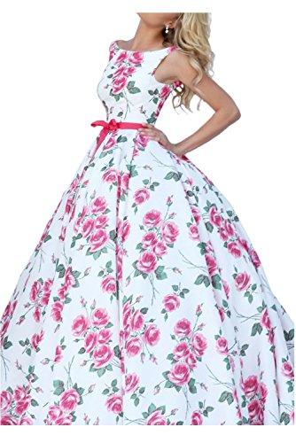 Toskana novia Mujer croma bedruktes Noche de satén para ropa largo Fiesta en Ball Multicolor