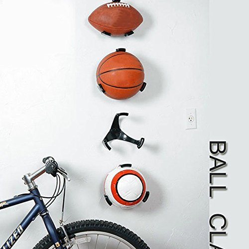 OSOPOLA Ball Holder Claw Wall Rack Display for Rugby Soccer Football Basketball 1PCS