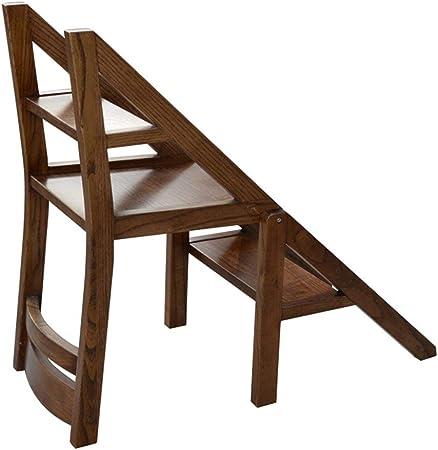 QQXX Silla de Escalera de 3 escalones, conversión de Biblioteca Plegable Silla de Escalera de Escalera Cocina Uso de Oficina: Amazon.es: Hogar