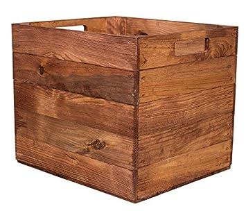 Vintage Möbel 24 Gmbh 4 Stück Holzkisten In Braun Für Kallax Regale