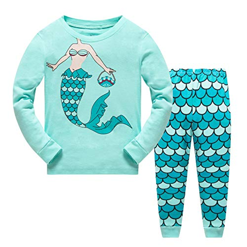 Qzrnly Girls Pajamas Kids Mermaid Pjs Set Toddler Clothes Giraffe Sleepwear