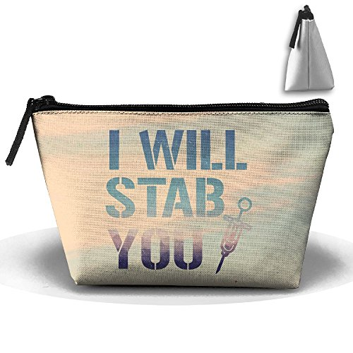 Louise Morrison Colorful I Will Stab You Nurse Needle Pen Stationery Pencil Case Cosmetic Makeup Bag Pouch