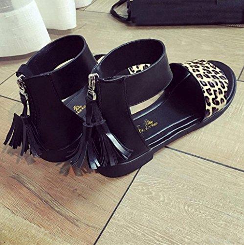 Deesee (tm) Sandales Dété Femmes Plat Mode Sandales Confortable Dames Chaussures Jaune