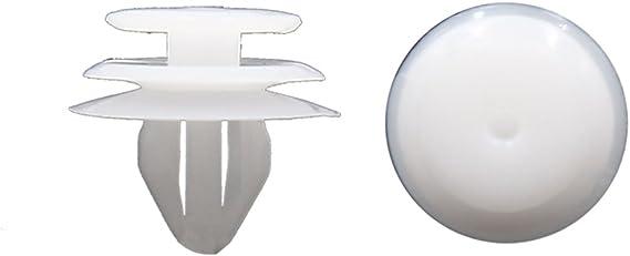 sourcingmap 50Stk 8mm Loch wei/ß Plastik Nieten Push Pin Teppich Sto/ßstange Kotfl/ügel Klammer DE de
