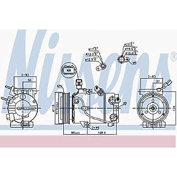 Nissens 890239 Compresor para Aire Acondicionado: Amazon.es: Coche y moto