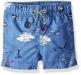 mud pie boy 3t - Mud Pie Baby Boys Nautical Swim Trunks, Blue, MD/2T-3T