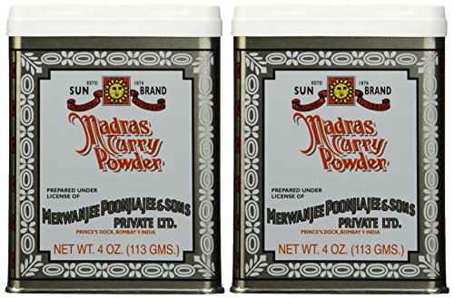 Plain Front Short Madras - SUN BRAND Madras Curry Powder, 4 OZ (pack of 2)