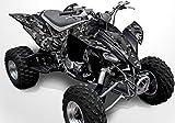 Yamaha YFZ 450 Graphics - Black Camo Design