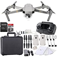 DJI Mavic Pro Platinum Collapsible Quadcopter Black Aluminum Hardshell Case Essential Bundle