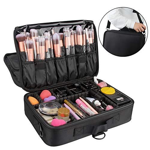 Relavel Makeup Bag Travel Makeup Train Case 13.4