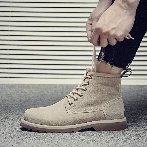 Lianaiec Herrenstiefel Winter Leder Martin Martin Martin Stiefel Outdoor Tooling Stiefel Hohe Schuhe Wüste Stiefel Schuhe cfb5b5