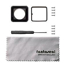Fantaseal® Repair Lens Kit for GoPro Replacement Kit GoPro Repair Lens Kit GoPro Cover w/ Screw Driver +Screw+Lens Cloth for GoPro Hero 4, Hero 3+ Case GoPro Hero 4, Hero3+ Skeleton Shell Housing