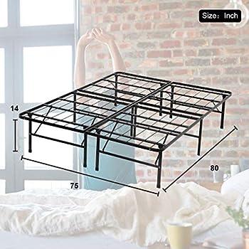Twin Queen Platform Metal Bed Frame Mattress Foundation Full